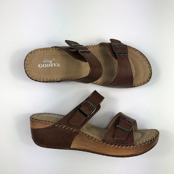a981fd2dc350 Lady Godiva Women s Size 8 Wedge Sandals